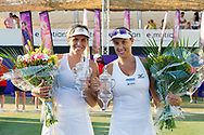 María José Martínez Sánchez (ESP) and Andreja Klepac (SLO)  after winning the Mallorca Open at Country Club Santa Ponsa on June 22, 2018 in Mallorca, Spain. Photo Credit: Katja Boll/EVENTMEDIA.