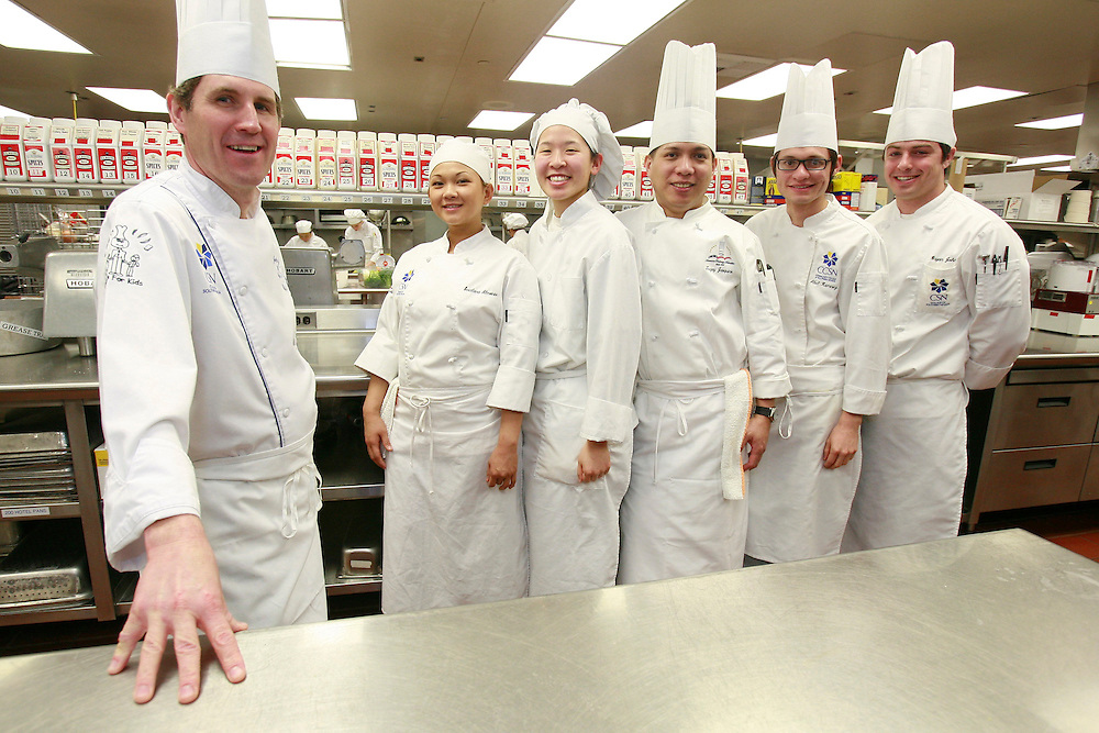ALL-CULINARY-MAR25-------------------CSN Director of Culinary Arts, Chef John Metcalf, left, will head the team that represents Nevada at the American Culinary Federation Western Regional Conference next month in Utah. Team members are composed of Svetlana Almonte, Samantha Lew, Teejay Joaquino, Abel Ramirez and Bryan John, who are all students at the College of Southern Nevada on 3200 East Cheyenne Avenue. 03/10/08 View photo by Vic Valbuena Bareng.