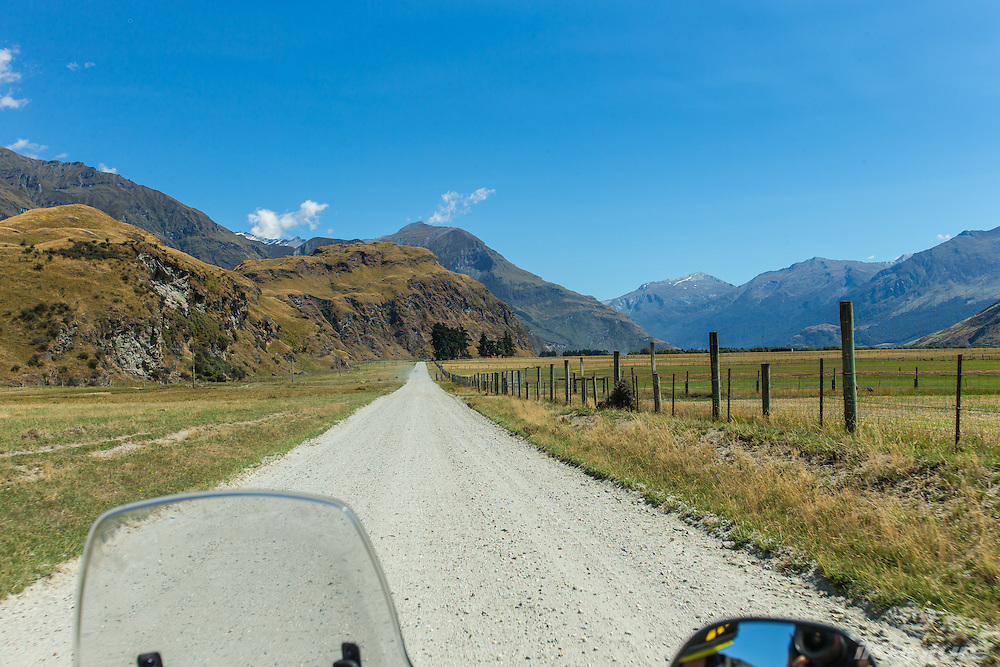 The road to Mt Aspiring, NZ