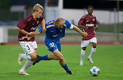 Henri Toivomaki vs Milan Osterc at 1st football match of 2nd preliminary Round of UEFA Europe League between ND Gorica and FC Lahti, on July 16 2009, in Nova Gorica, Slovenia. (Photo by Vid Ponikvar / Sportida)