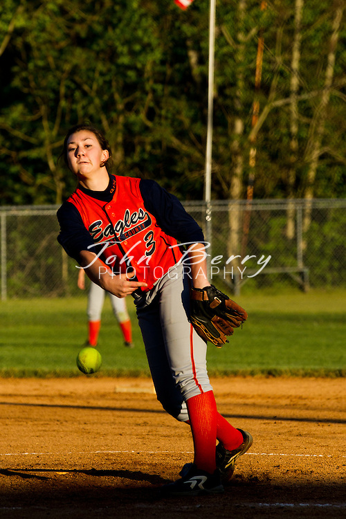 The Varsity Softball team beat Clarke County last night 7-3 to remain undefeated in the Bull Run District. Jordan Aylor threw a complete game giving up 5 hits and 3 runs. Anna Kelliher led the offense with a double and 3 RBI. Casey Racer had a hit and scored a run, Aylor had a hit and scored twice and Amber Robson had a double, scored twice and had an RBI. Madison improves to 10-3 overall and 4-0 in the district.  April/28/11:  MCHS Varsity Softball vs Clarke Eagles.  Madison led Clarke 3-1 after two innings.  Final, Madison 7, Clarke 3.