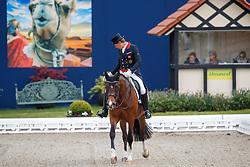FAURIE Emile (GBR), Cafe s Caletta<br /> Hagen - Horses and Dreams meets the Royal Kingdom of Jordan 2018<br /> Einlaufprüfung Nürnberger Burg Pokal<br /> 26 April 2018<br /> www.sportfotos-lafrentz.de/Stefan Lafrentz