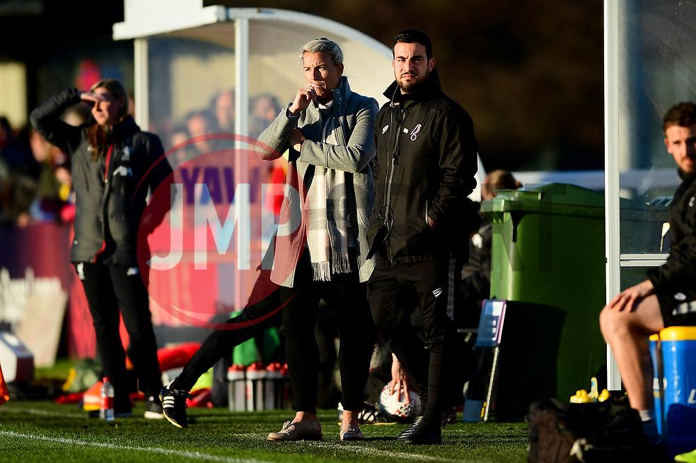 Tanya Oxtoby manager of Bristol City Women and Marco Chiavetta - Mandatory by-line: Ryan Hiscott/JMP - 19/01/2020 - FOOTBALL - Stoke Gifford Stadium - Bristol, England - Bristol City Women v Liverpool Women - Barclays FA Women's Super League