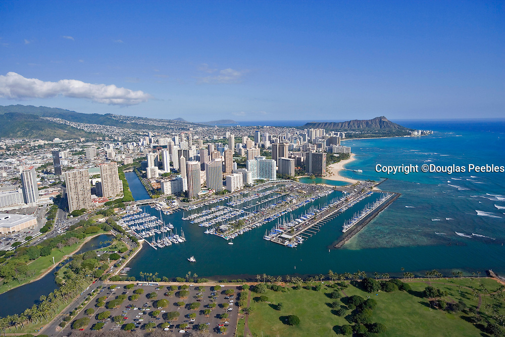 Ala Wai Yacht Harbor, Waikiki, Honolulu, Hawaii