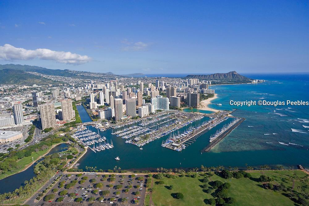 Ala Wai Yacht Harbor, Waikiki, Honolulu, Hawaii