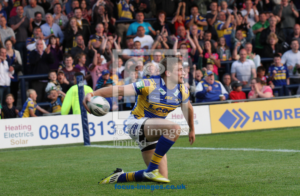 Picture by Stephen Gaunt/Focus Images Ltd +447904 833202<br /> 07/06/2013<br /> Jimmy Keinhorst (c) of Leeds Rhinos celebrates<br /> after scoring against Castleford Tigers during the Super League match at Headingley Carnegie Stadium, Leeds.