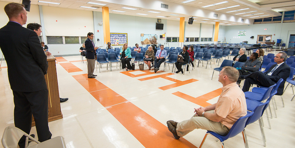 Community meeting for the new Mark White Elementary School held at TH Rogers, October 15, 2015.