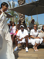 **EXCLUSIVE**.Chris Tucker & Michael Michelle.Cain at the Cove Hotel Opening.Kaimilla Fashion Show at the Cain pool.Paradise Island, Bahamas.Friday, May 11, 2007 .Photo By Celebrityvibe.To license this image please call (212) 410 5354; or.Email: celebrityvibe@gmail.com ;