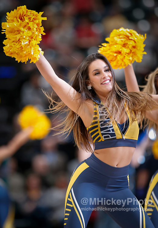 INDIANAPOLIS, IN - MARCH 07: An Indiana Pacers Pacemate is seen during the game against the Utah Jazz at Bankers Life Fieldhouse on March 7, 2018 in Indianapolis, Indiana. NOTE TO USER: User expressly acknowledges and agrees that, by downloading and or using this photograph, User is consenting to the terms and conditions of the Getty Images License Agreement.(Photo by Michael Hickey/Getty Images)