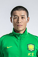 **EXCLUSIVE**Portrait of Chinese soccer player Zhu Chaoqing of Beijing Sinobo Guoan F.C. for the 2018 Chinese Football Association Super League, in Shanghai, China, 22 February 2018.