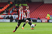 Sheffield United midfielder John Fleck (4) during the EFL Sky Bet Championship match between Sheffield United and Millwall at Bramall Lane, Sheffield, England on 14 April 2018. Picture by Ian Lyall.