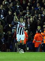 Photo: Mark Stephenson/Sportsbeat Images.<br /> West Bromwich Albion v Bristol City. Coca Cola Championship. 26/12/2007.West Brpm's Robert Karen celebrates his goal
