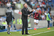 Brentford manager (head coach) Dean Smith  during the EFL Sky Bet Championship match between Brighton and Hove Albion and Brentford at the American Express Community Stadium, Brighton and Hove, England on 10 September 2016.