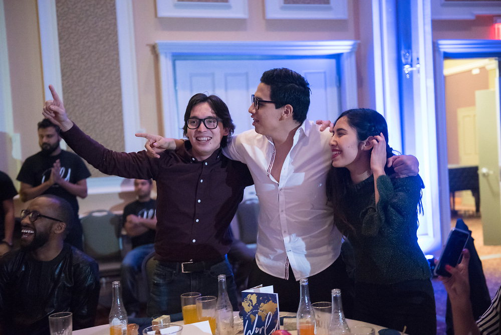 The International Student Union hosts the 2018 ISU Dinner on Nov. 11, 2018 in Baker Ballroom. The dinner showcases performances and food from many different cultures around the world. Photo by Hannah Ruhoff