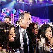 Giuseppe Sala, commissario unico di Expo 2015, festeggiato al termine cerimonia di chiusura di Expo 2015 Milano.  31 ottobre 2015