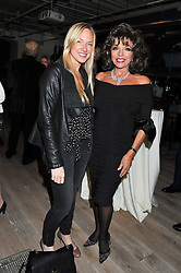 Left to right, ROSIE NIXON and JOAN COLLINS at a party to celebrate the publication of her  autobiography - The World According to Joan, held at the British Film Institute, South Bank, London SE1 on 8th September 2011.