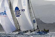 07_014126 © Sander van der Borch. Porto Cervo - ITALY,  28 September 2007 . TP52 Worlds in Porto Cervo (23/29 September 2007). Race 7.