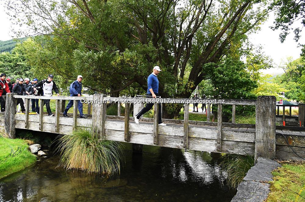 New Zealand's Michael Hendry on day 4 at the 2017 ISPS Handa New Zealand Golf Open. Millbrook, Arrowtown. New Zealand. Sunday 12 March 2017. © Photo: Andrew Cornaga / www.photosport.nz