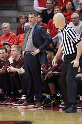 10 January 2018:  Porter Moser near Bret Smith during a College mens basketball game between the Loyola Chicago Ramblers and Illinois State Redbirds in Redbird Arena, Normal IL