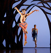 The Birmingham Royal Ballet <br /> Three Short Story Ballets (mixed Bill) <br /> at Birmingham Hippodrome, Birmingham, Great Britain <br /> Rehearsal 21st June 2017 <br /> <br /> <br /> Arcadia <br /> (word Premier)<br /> Choreography by Ruth Brill<br /> Music:John HarleDesigns:Atena AmeriLighting:Peter Teigen<br /> <br /> CastPan: Tyrone Singleton <br /> <br /> <br /> <br /> Photograph by Elliott Franks <br /> Image licensed to Elliott Franks Photography Services
