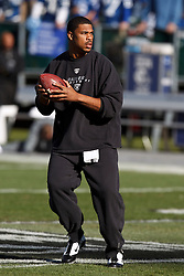 December 26, 2010; Oakland, CA, USA;  before the game at Oakland-Alameda County Coliseum.