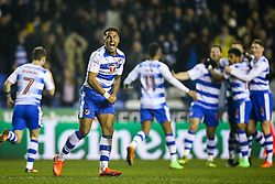 Liam Moore of Reading celebrates Roy Beerens of Reading goal, taking into the lead, Reading 3-2 Brentford - Mandatory by-line: Jason Brown/JMP - 14/02/2017 - FOOTBALL - Madejski Stadium - Reading, England - Reading v Brentford - Sky Bet Championship