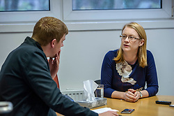 Pictured: Shirley-Anne Somorville<br /> <br /> Social Security Secretary Shirley-Anne Somerville visited the Citizen's Advice bureau (CAB) today to discuss the roll out of universal credit with Beniamin Napier, Chief Executive of Citizen's Advice Services in Edinburgh ; Aaliya Seyal, Citizen's Advice Scotland Director for Client Journey and with CAB clients affected by the changes. Around 10,000 people apply for universal cfreadit each m onth nand those applying now will not receive any funds they are due until after Christmas due to the five-week waiting time for claims to be processed<br /> <br /> Ger Harley | EEm 5 December 2018