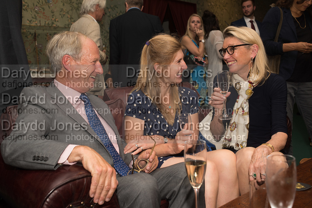 TIM CORFIELD; FLORA MCEVEDY; CAROLINE BROWN, The LAPADA Art & Antiques Fair - private view, Berkeley Sq. London. 12  September 2016