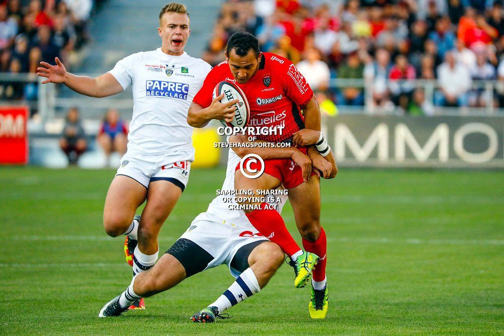 Jonah Placid of Toulon during the pre-season match between Rc Toulon and Clermont Auvergne at Felix Mayol Stadium on August 11, 2017 in Toulon, France. (Photo by Guillaume Ruoppolo/Icon Sport)