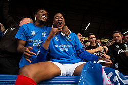 Jamal Lowe of Portsmouth and Nicke Kabamba of Portsmouth celebrate - Mandatory by-line: Jason Brown/JMP - 06/05/2017 - FOOTBALL - Fratton Park - Portsmouth, England - Portsmouth v Cheltenham Town - Sky Bet League Two