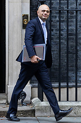 © Licensed to London News Pictures. 16/10/2018. London, UK. Home Secretary Sajid Javid leaves 10 Downing Street after the Cabinet meeting. Photo credit: Rob Pinney/LNP