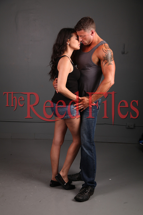 Shirtless man with beautiful dark haired woman