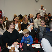 London,England, UK ; 19th Feb 2016 : Gemma Bissix and her daughter Juliette Ruse attended the British Red Cross Course at the Baby Show 2016 at Excel London. Photo by See Li