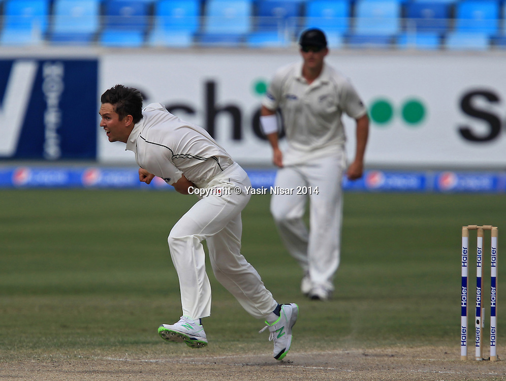 Pakistan vs New Zealand, 21 November 2014 <br /> Trent Boult bowls on the fifth day of second test in Dubai