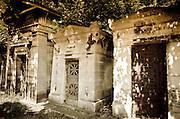 Mausolea at Père Lachaise Cemetery, Paris, France