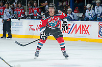 KELOWNA, CANADA - OCTOBER 7: Tyson Baillie #24 of Kelowna Rockets skates against the Swift Current Broncos on October 7, 2014 at Prospera Place in Kelowna, British Columbia, Canada.  (Photo by Marissa Baecker/Getty Images)  *** Local Caption *** Tyson Baillie;