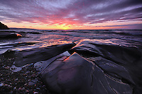 A stunning Lake Superior Sunset in the Porcupine Mountains Wilderness,<br />