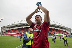 October 20, 2018 - Limerick, Ireland - Tadhg Beirne of Munster celebrates during the Heineken Champions Cup match between Munster Rugby and Gloucester Rugby at Thomond Park in Limerick, Ireland on October 20, 2018  (Credit Image: © Andrew Surma/NurPhoto via ZUMA Press)