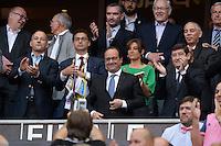 Maxime Saada / Francois HOLLANDE / Nathalie IANNETTA / Patrick KANNER  - 13.06.2015 - Clermont / Stade Francais - Finale Top 14<br />Photo : Nolwenn Le Gouic / Icon Sport