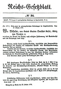 Bismarck's 'Law against the highly dangerous endeavours of Social Democracy' of 22 October 1878 the Sozialistengesetze (Anti-Socialist Laws).