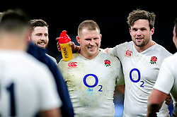 Dylan Hartley of England is all smiles after the match - Mandatory byline: Patrick Khachfe/JMP - 07966 386802 - 27/02/2016 - RUGBY UNION - Twickenham Stadium - London, England - England v Ireland - RBS Six Nations.