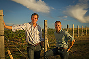 Drew Bledsoe & Chris Figgins, Doubleback vineyard, Walla Walla, Washington