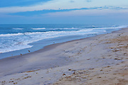 View of the beach and waves during a spring morning at Atlantic Beach