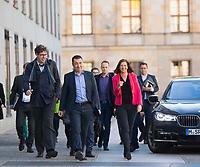 DEU, Deutschland, Germany, Berlin, 30.10.2017: Cem Özdemir, Parteivorsitzender B90/Die Grünen, und Grünen-Fraktionschefin Katrin Göring-Eckardt vor den Sondierungsgesprächen zwischen CDU/CSU, FDP und Bündnis 90/Die Grünen in der Deutschen Parlamentarischen Gesellschaft.