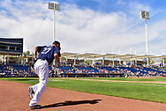 PHOENIX, AZ - MARCH 04:  Zach Davies #27 of the Milwaukee Brewers takes the field for the spring training game against the Texas Rangers at Maryvale Baseball Park on March 4, 2017 in Phoenix, Arizona.  (Photo by Jennifer Stewart/Getty Images)
