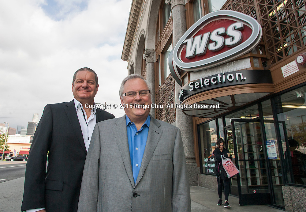 Mark Archer, right, president of WSS, and Dan Nuthals, chief merchant of WSS. (Photo by Ringo Chiu/PHOTOFORMULA.com)