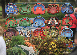 A display of Vintage tractor seats from Michael McLoughlin of the Mayo North Old Engine and tractor club at Murrisk Pattern Day on sunday last.<br /> Pic Conor McKeown