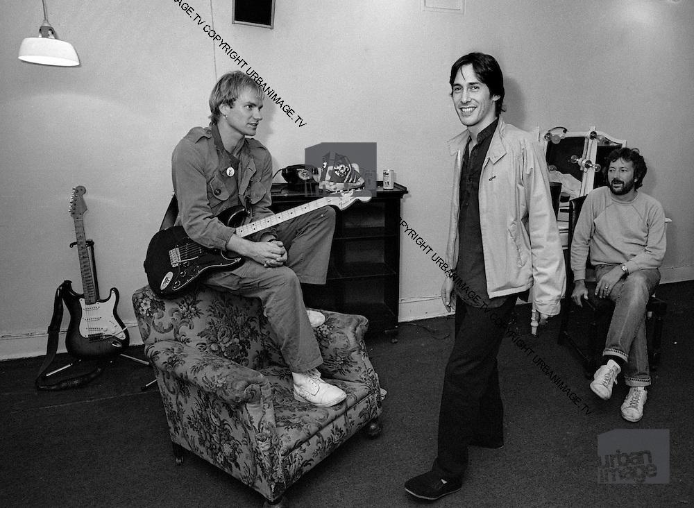 Sting - The Police - backstage Secret Policemans Ball - 1982