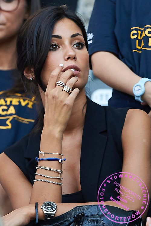 Federica Nagri the girlfriend of Alessandro Matri of Juventus looks on during the 2014/15 UEFA Champions League Final between Juventus and FC Barcelona at Olympiastadion on June 6, 2015 in Berlin, Germany.<br /> Germany, Berlin, June 6, 2015<br /> <br /> Picture also available in RAW (NEF) or TIFF format on special request.<br /> <br /> For editorial use only. Any commercial or promotional use requires permission.<br /> <br /> Adam Nurkiewicz declares that he has no rights to the image of people at the photographs of his authorship.<br /> <br /> Mandatory credit:<br /> Photo by &copy; Adam Nurkiewicz / Mediasport