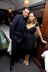 ROLAND MOURET and ALEXANDRA SHULMAN at Vogue's Celebation of Fashion dinner held at The Albermarle, Brown's Hotel, Albermarle Street, London on 18th September 2008.